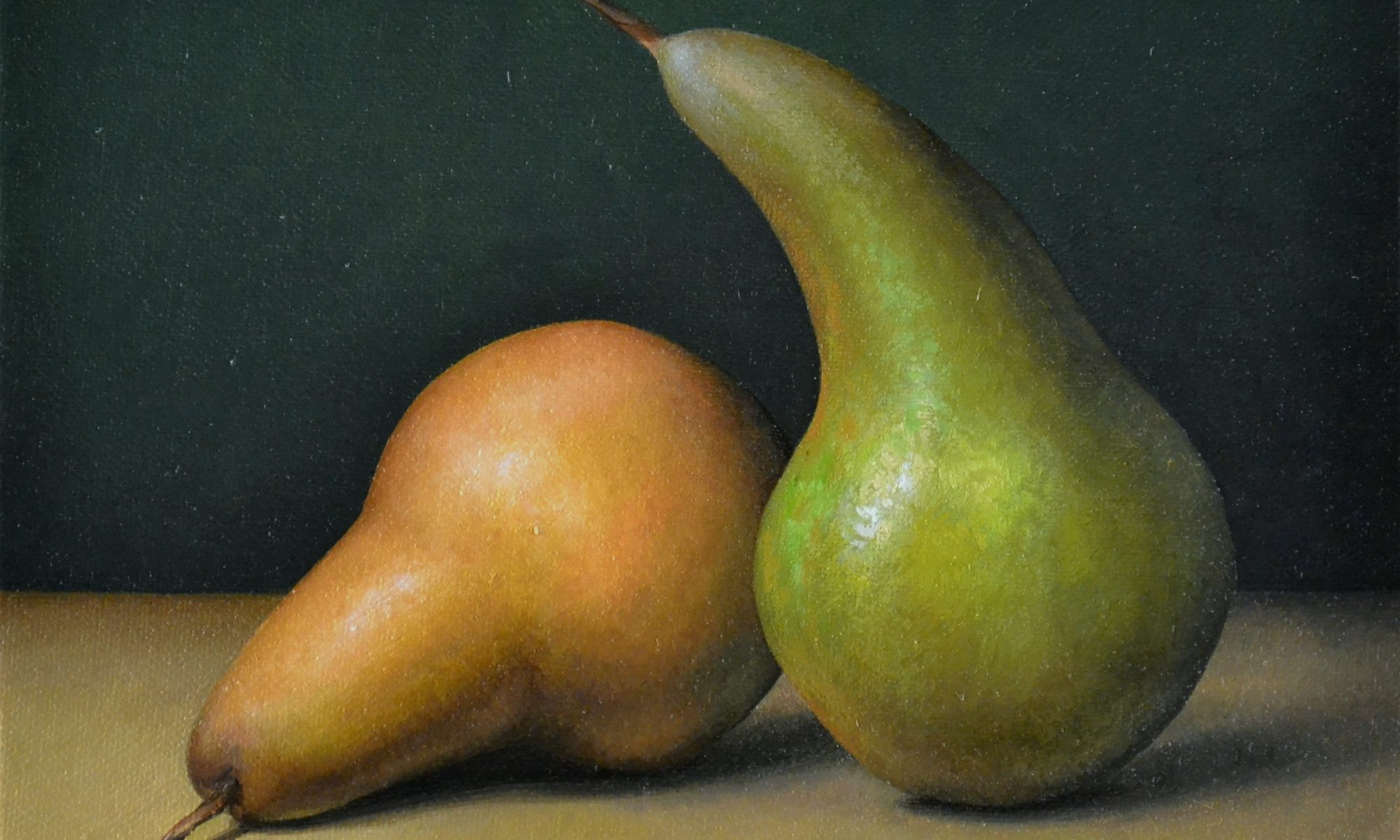 2 Bosc Pears 8″ x 10″ sold