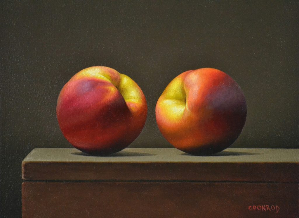 2 Peaches 11″ x 14″sold
