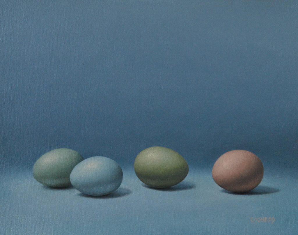 4 Eggs 11″ x 14″sold