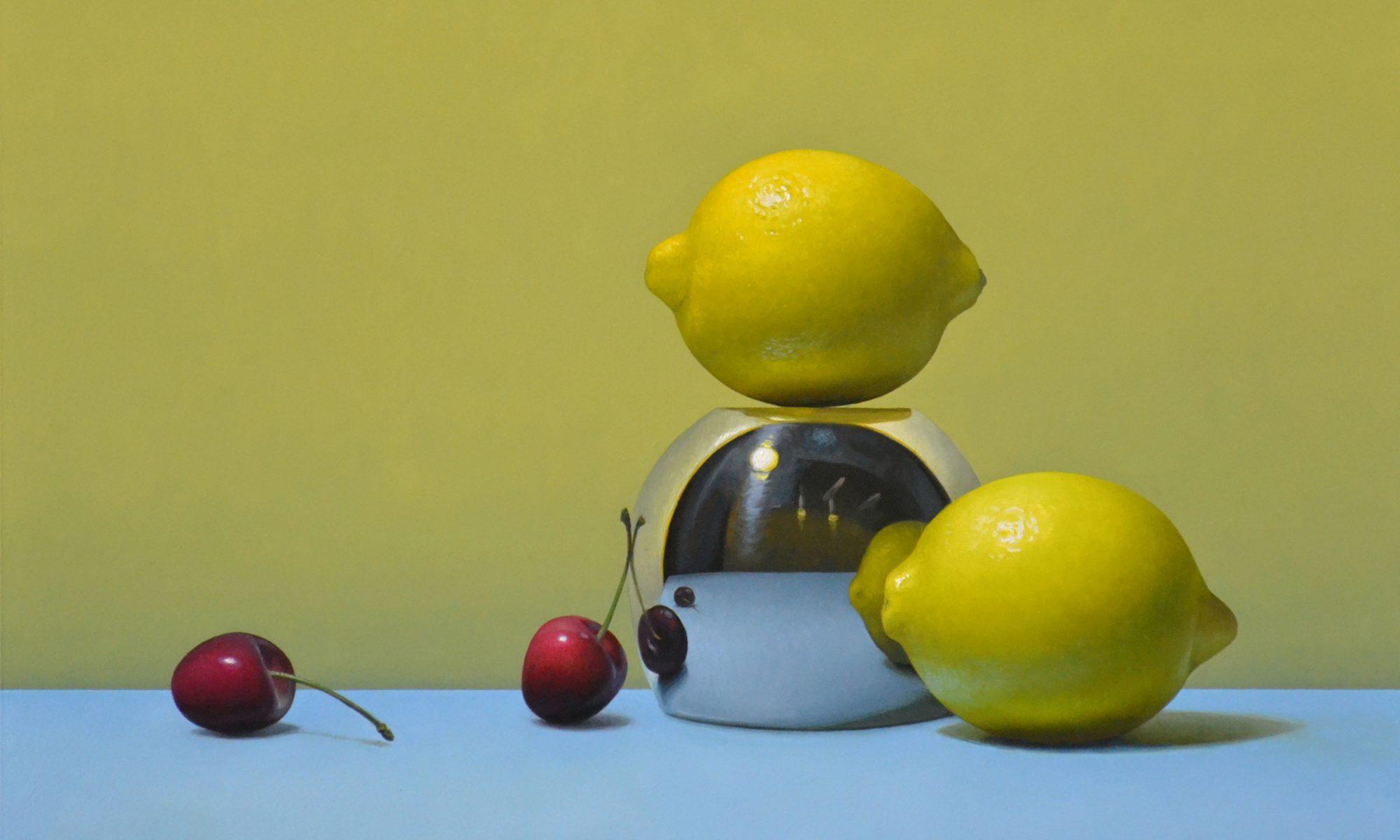 "2 Cherries and 2 Lemons 12"" x 16"" sold"
