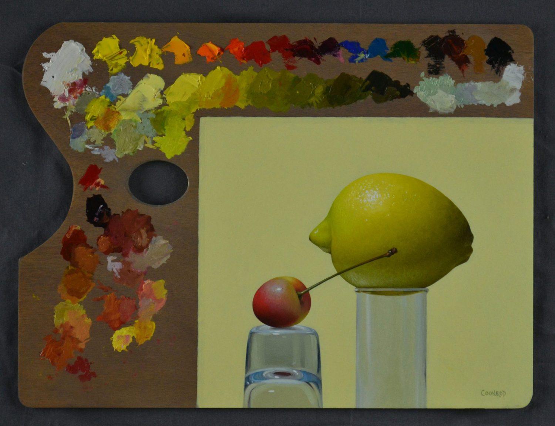 """Lemon and Rainier on a Palette12"""" x 16"""""""