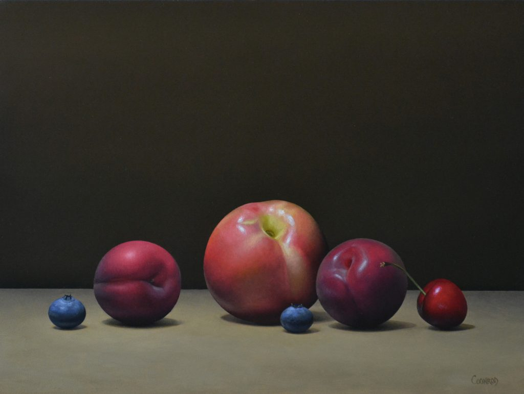 """Stonefruit and Blueberries12"""" x 16""""sold"""