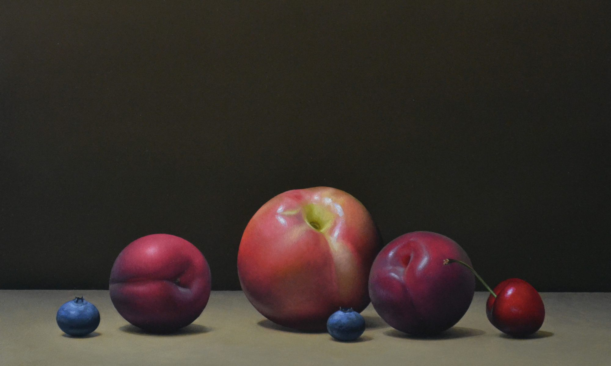 "Stonefruit and Blueberries   12"" x 16"""