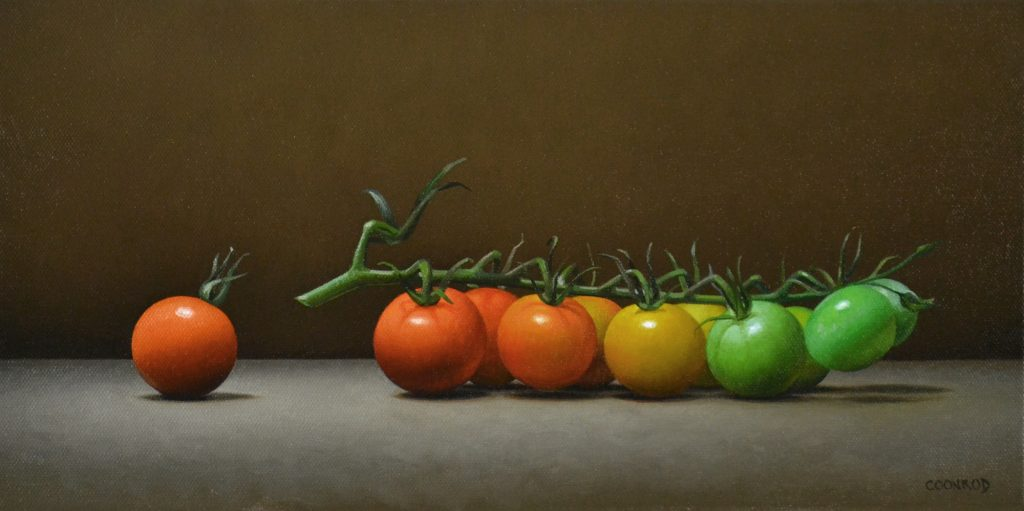 Sungold Tomatoes on a Vine 8″ x 16″   sold