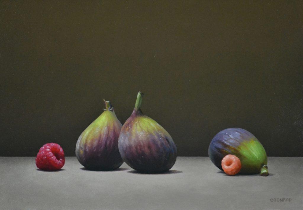 "3 Figs and 2 Raspberries9"" x 12"""