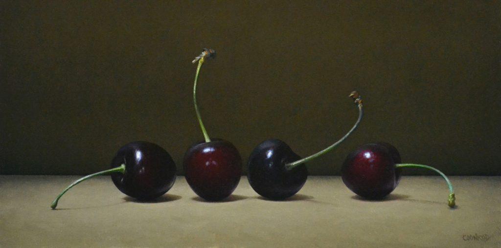 """4 Cherries6""""x12""""sold"""