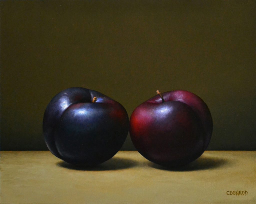"2 Plums   8"" x 10""   sold"