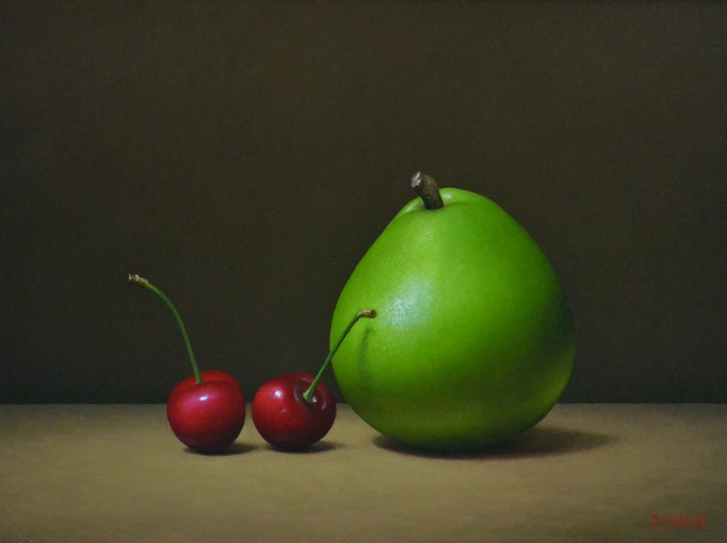 "2 Cherries and a Pear   8"" x 10"""