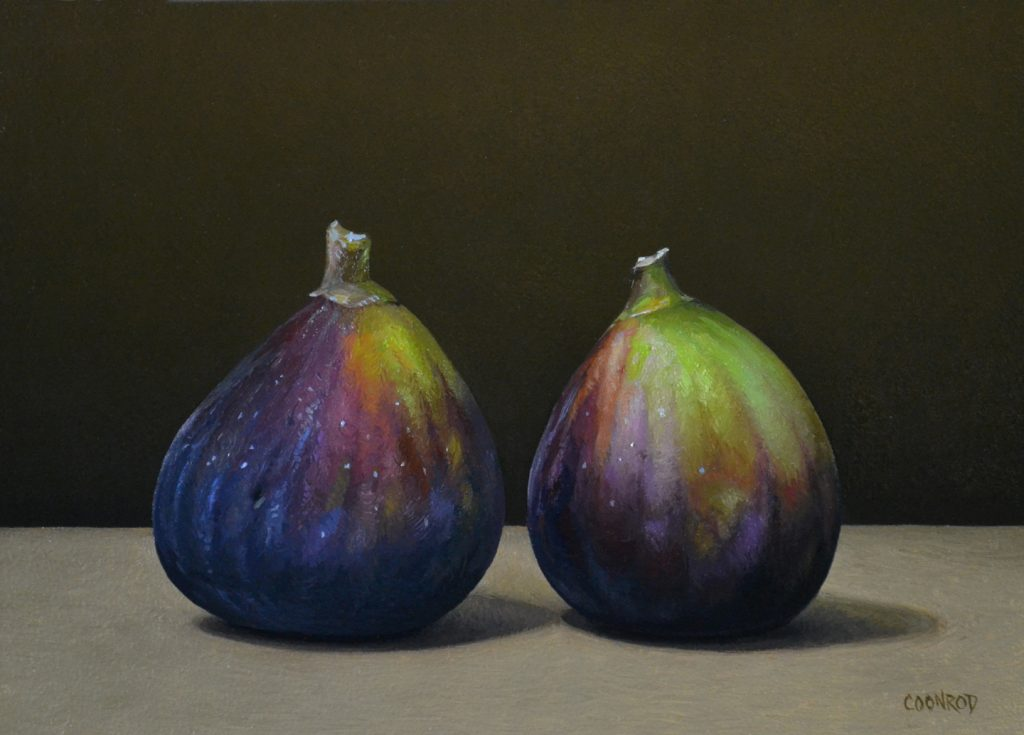 "2 Figs   5"" x 7""   sold"