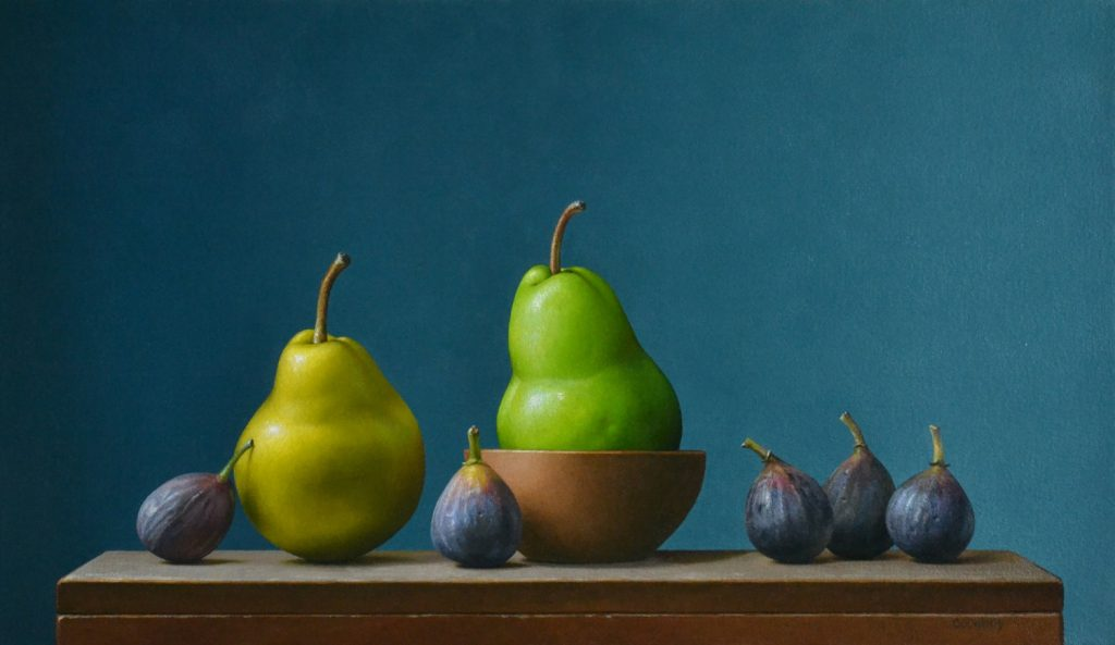 """2 Pears and 5 Figs14"""" x 24"""""""