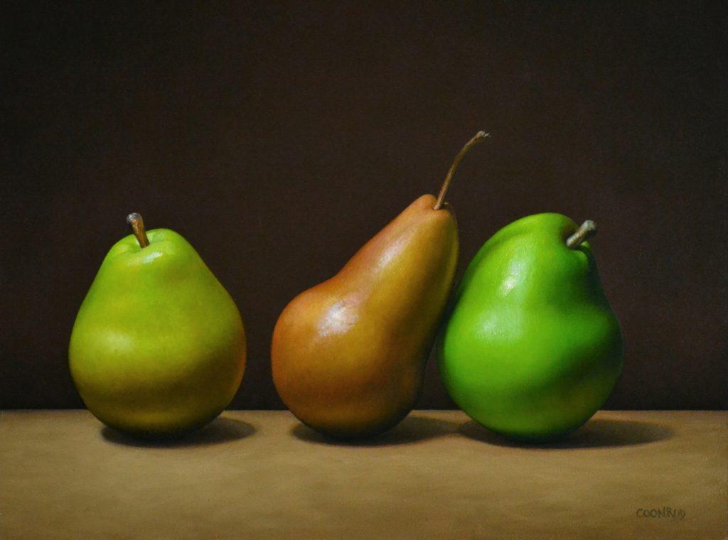 "3 Pears11"" x 14"""