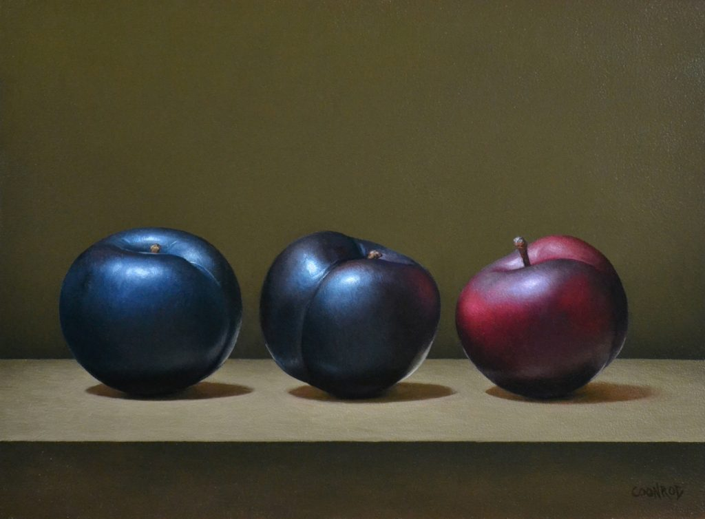 """3 Plums9"""" x 12""""sold"""