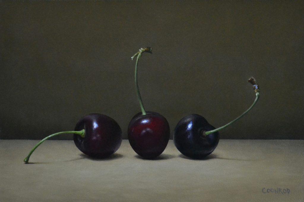 """3 Cherries6"""" x 9""""sold"""