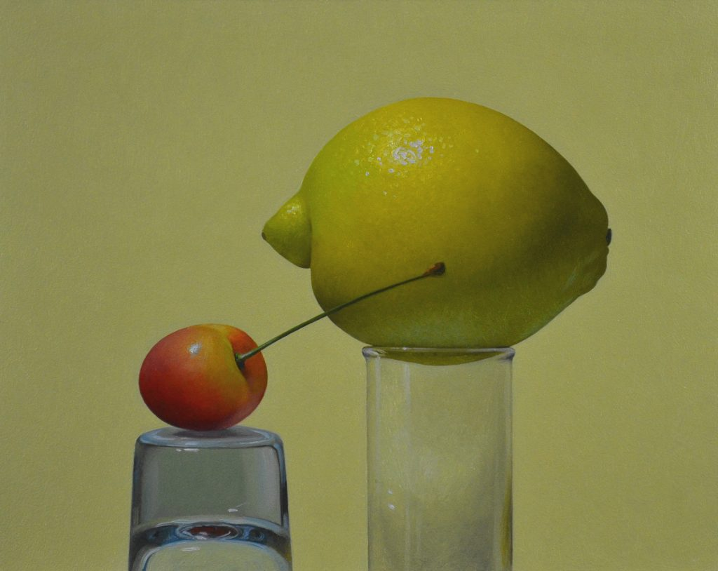 "Cherry and Lemon8"" x 10""sold"