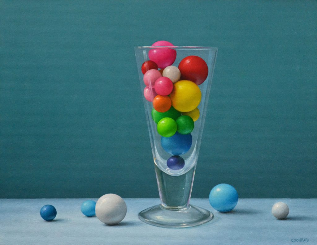 """Gumballs in a Glass11"""" x 14""""sold"""