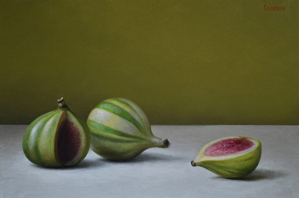 "Striped Figs6"" x 9""sold"