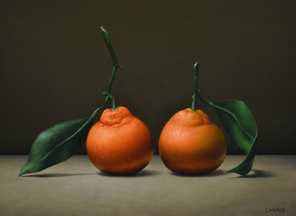 """2 Clementines 11"""" x 14"""" sold"""
