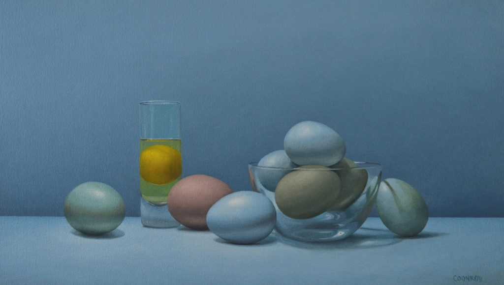 Bowl of Eggs with Shot Glass 14″ x 24″sold