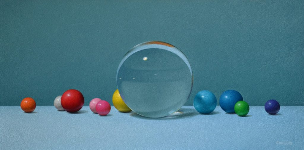 """Glass Orb and Gumballs8""""x16""""sold"""
