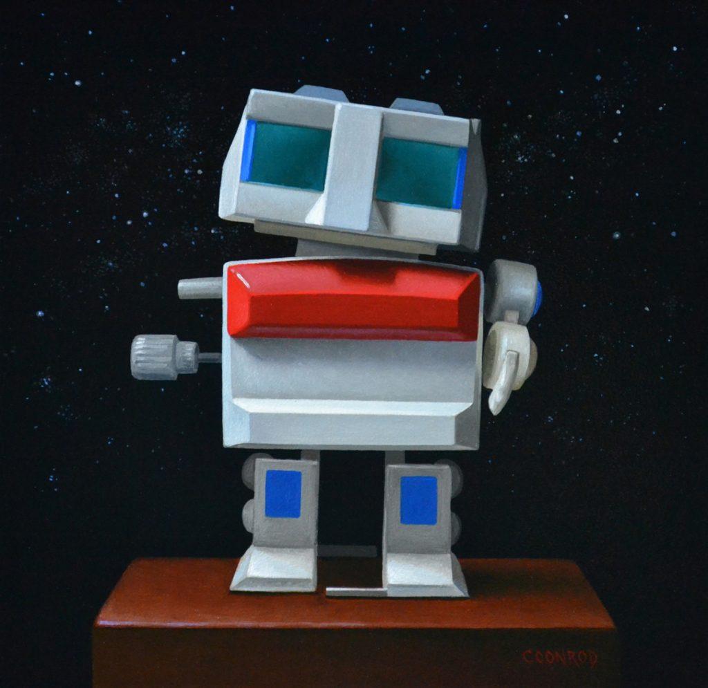 """Robot Wind-up 8"""" x 8"""""""
