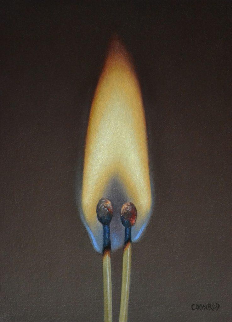 "Scott's Flame7""x5""sold"