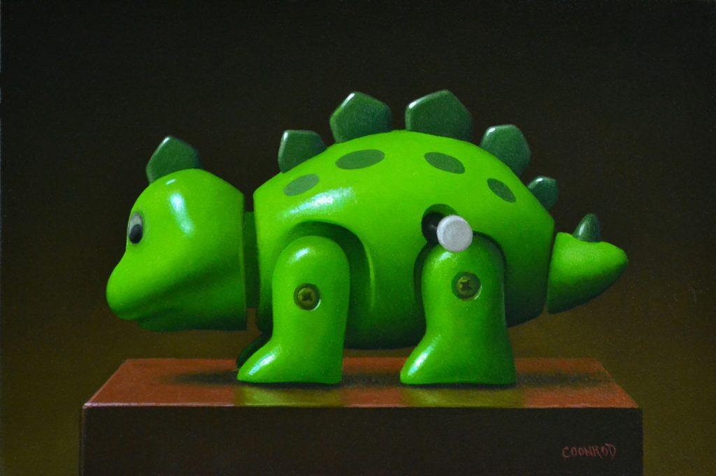 "Stegosaurus Wind-up 8"" x 8"""