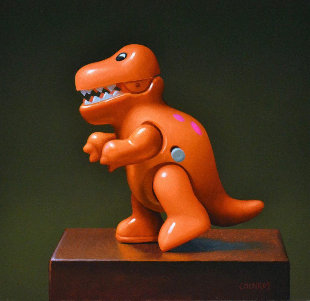 "T-Rex Wind-up 8"" x 8"" sold"