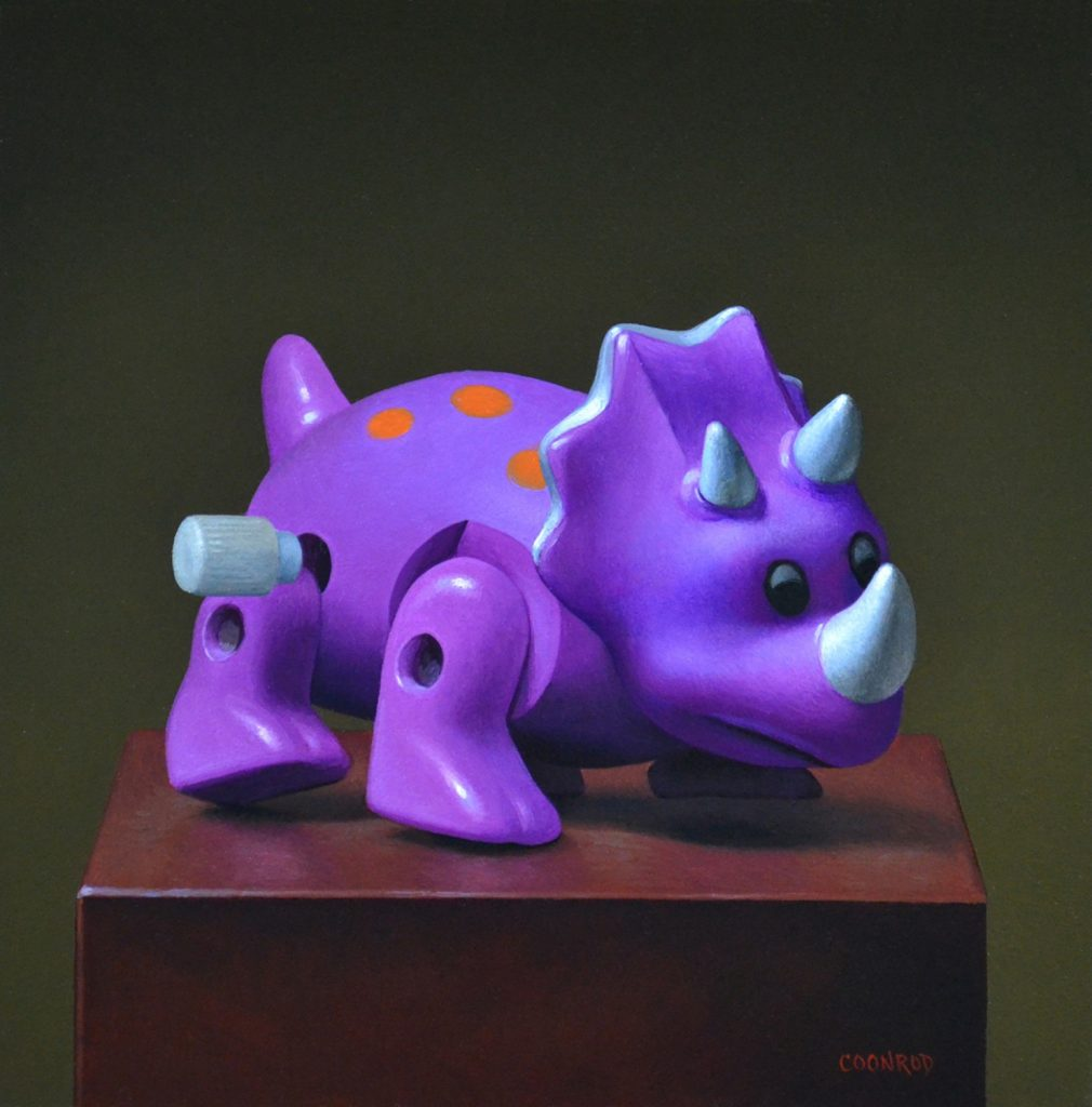 """Triceratops Wind-up 8"""" x 8"""" sold"""