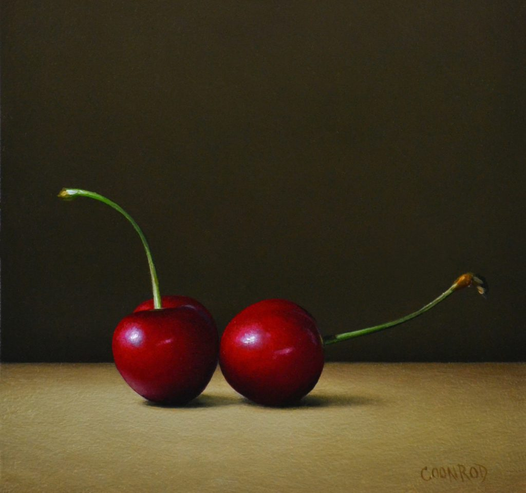 """2 Red Cherries6""""x6""""sold"""