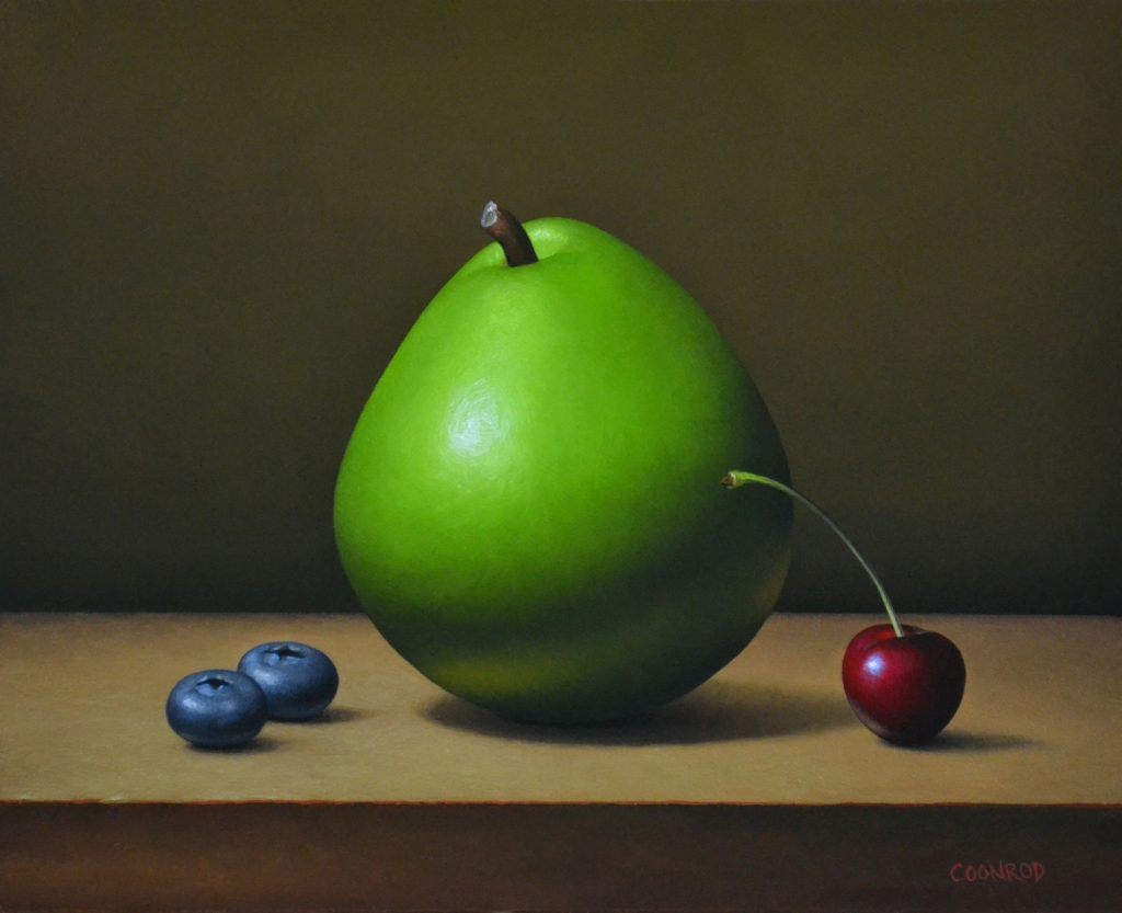 """Blueberries, Pear, and Cherry 8"""" x 10"""""""