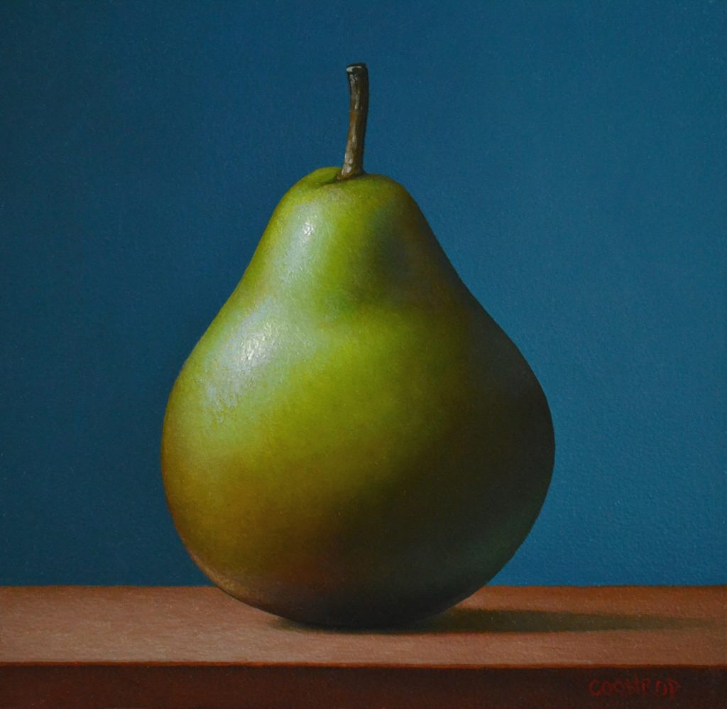 """Forelle Pear on Blue6""""x6"""""""