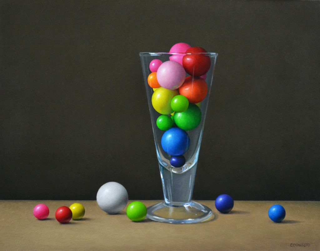"""Gumballs in a Glass11""""x14""""sold"""