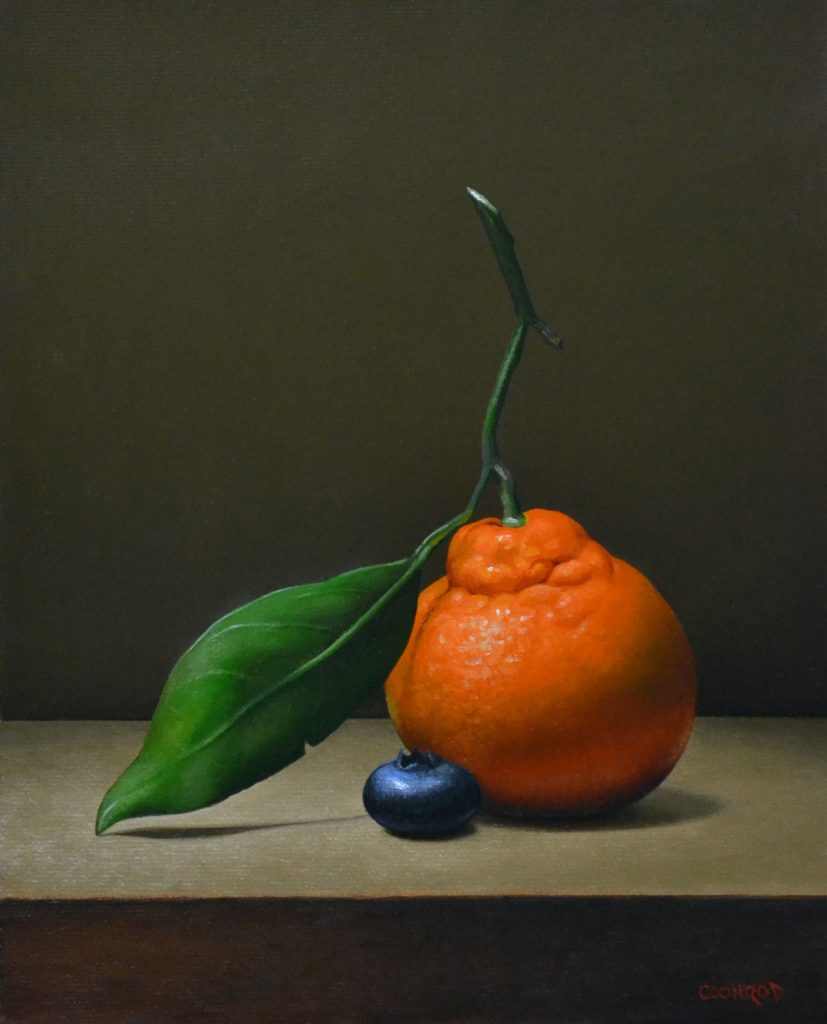 """Orange and Blueberry 10"""" x 8"""" sold"""