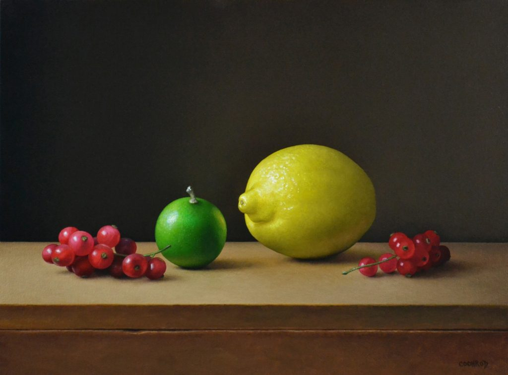 """Lemon, Lime, and Red Currants12""""x16""""sold"""